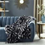 Caron 50 in. x 60 in. Navy Throw Reverse Micromink Front: 80% Acrylic 20% Polyester Back: 100% Polyester