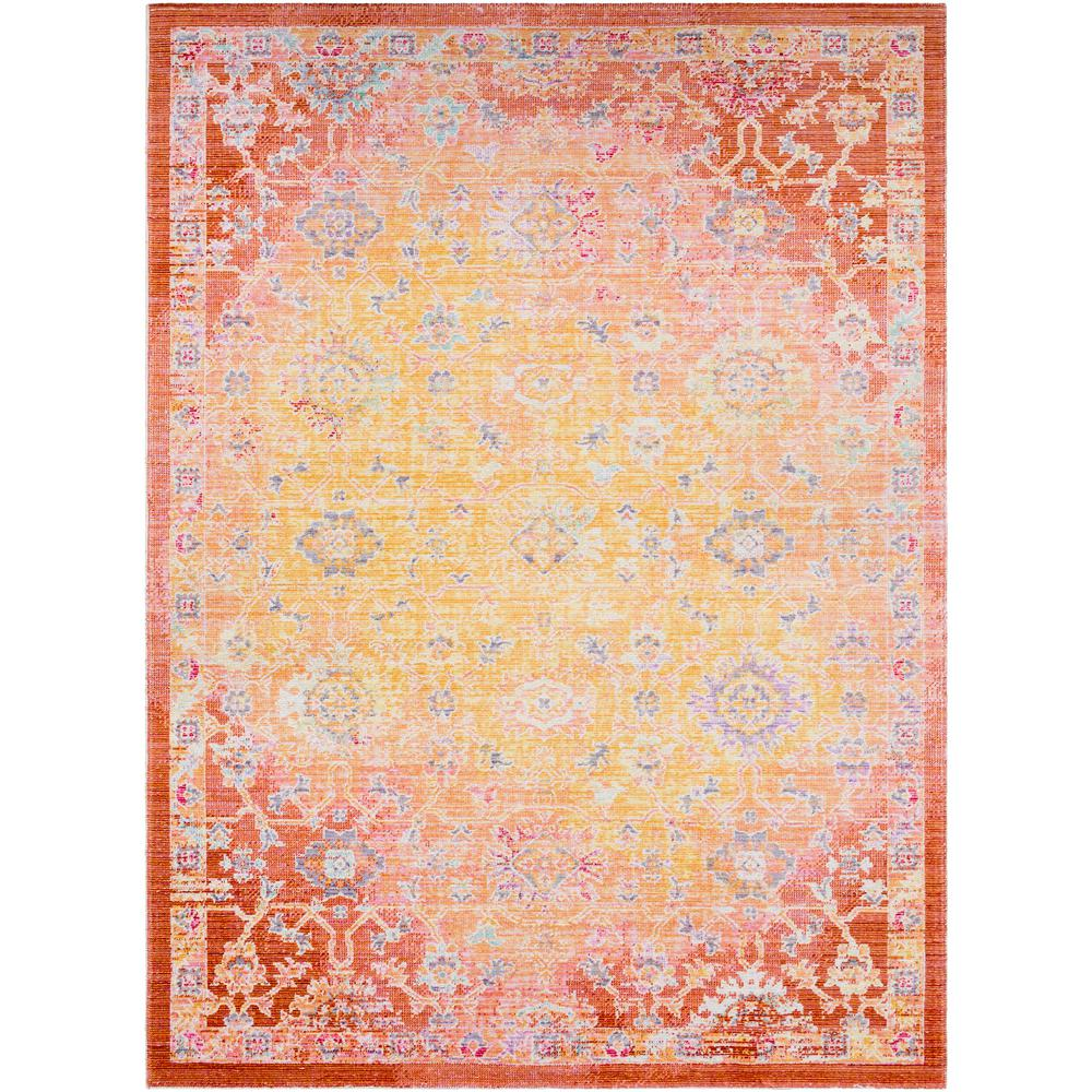 Neighbourne Bright Yellow 5 ft. 3 in. x 7 ft. 3 in. Area Rug