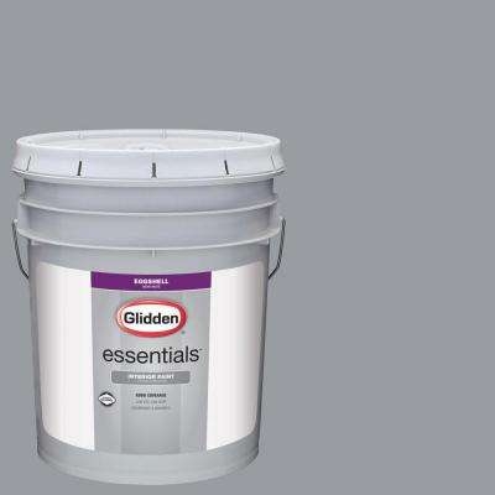5 gal. #HDGCN38 Cool Metalwork Grey Eggshell Interior Paint