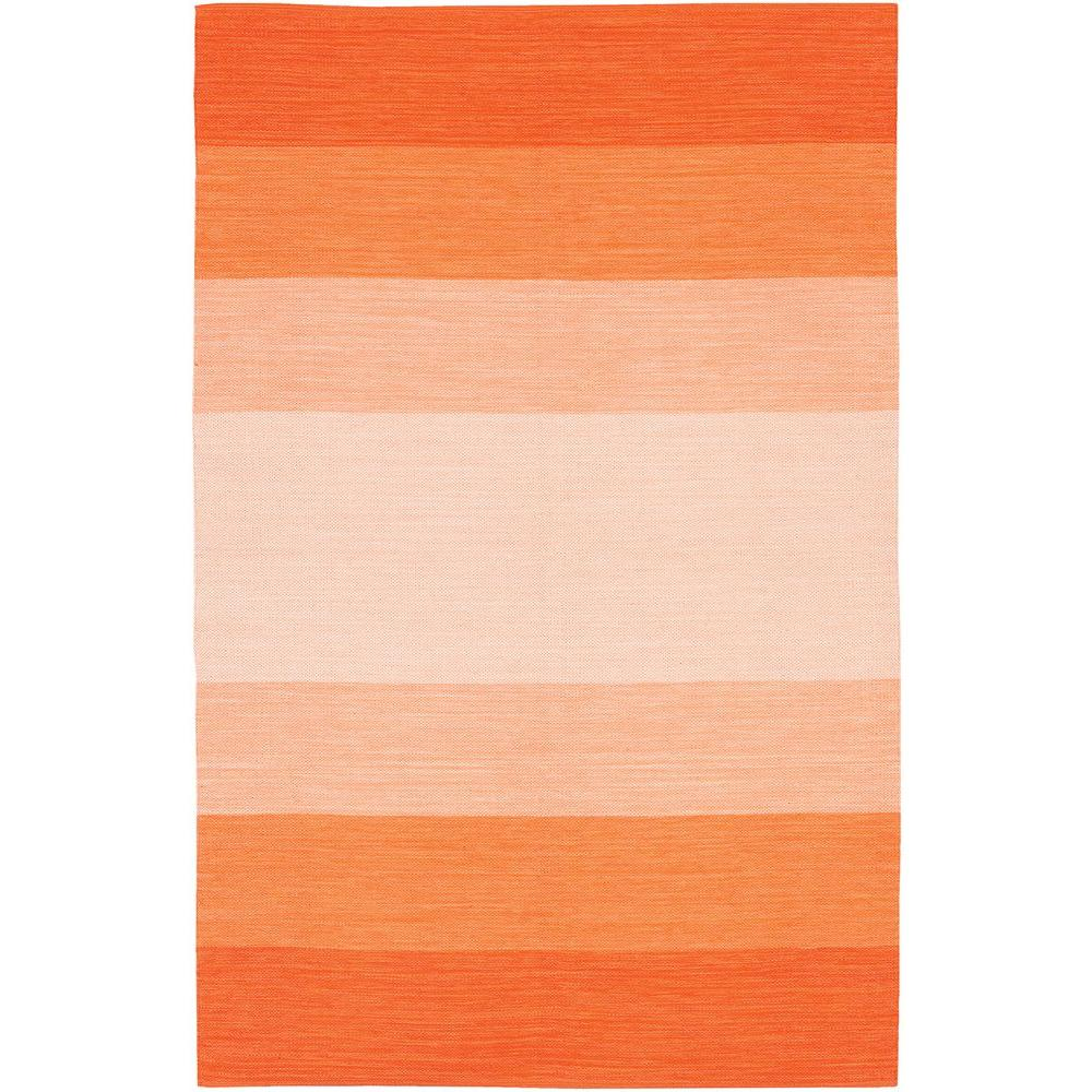 Chandra India Orange Cream 4 Ft X 6 Indoor Area Rug