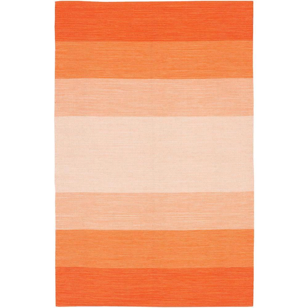 India Orange/Cream 3 ft. 6 in. x 5 ft. 6 in. Indoor Area Rug