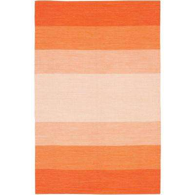 India Orange/Cream 8 ft. x 11 ft. Indoor Area Rug
