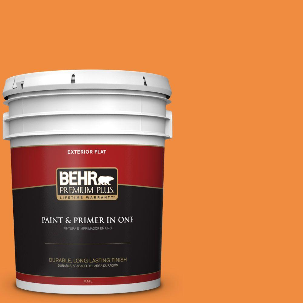 BEHR Premium Plus 5-gal. #260B-7 Bird of Paradise Flat Exterior Paint