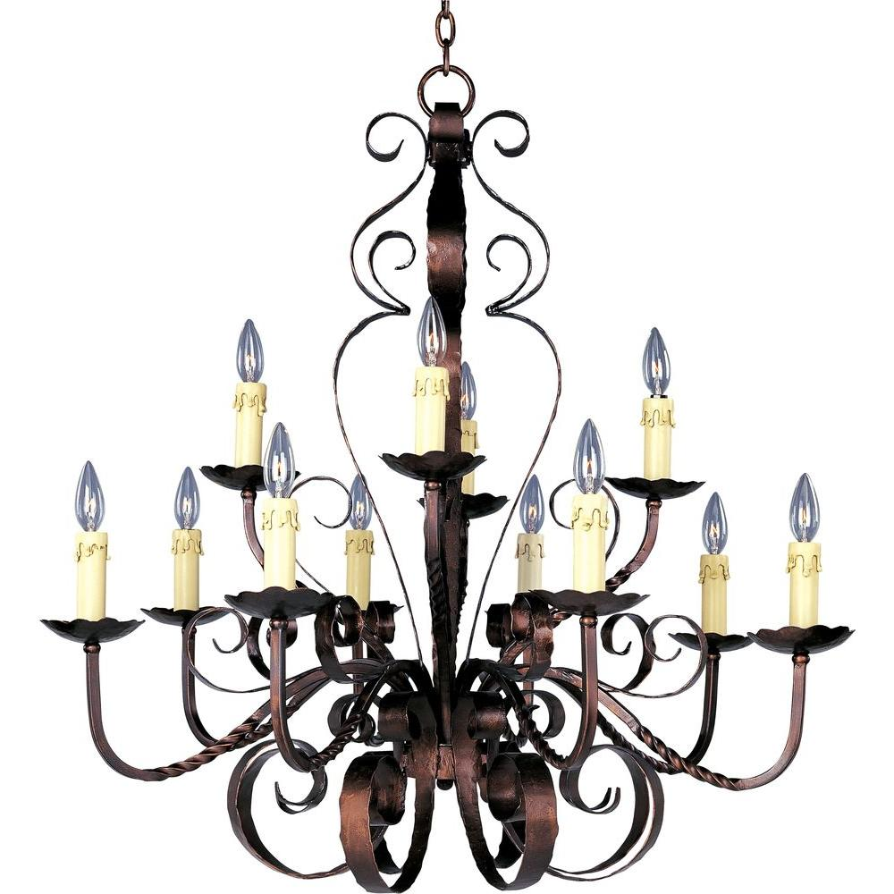 Maxim Lighting Aspen 12-Light Oil Rubbed Bronze Chandelier