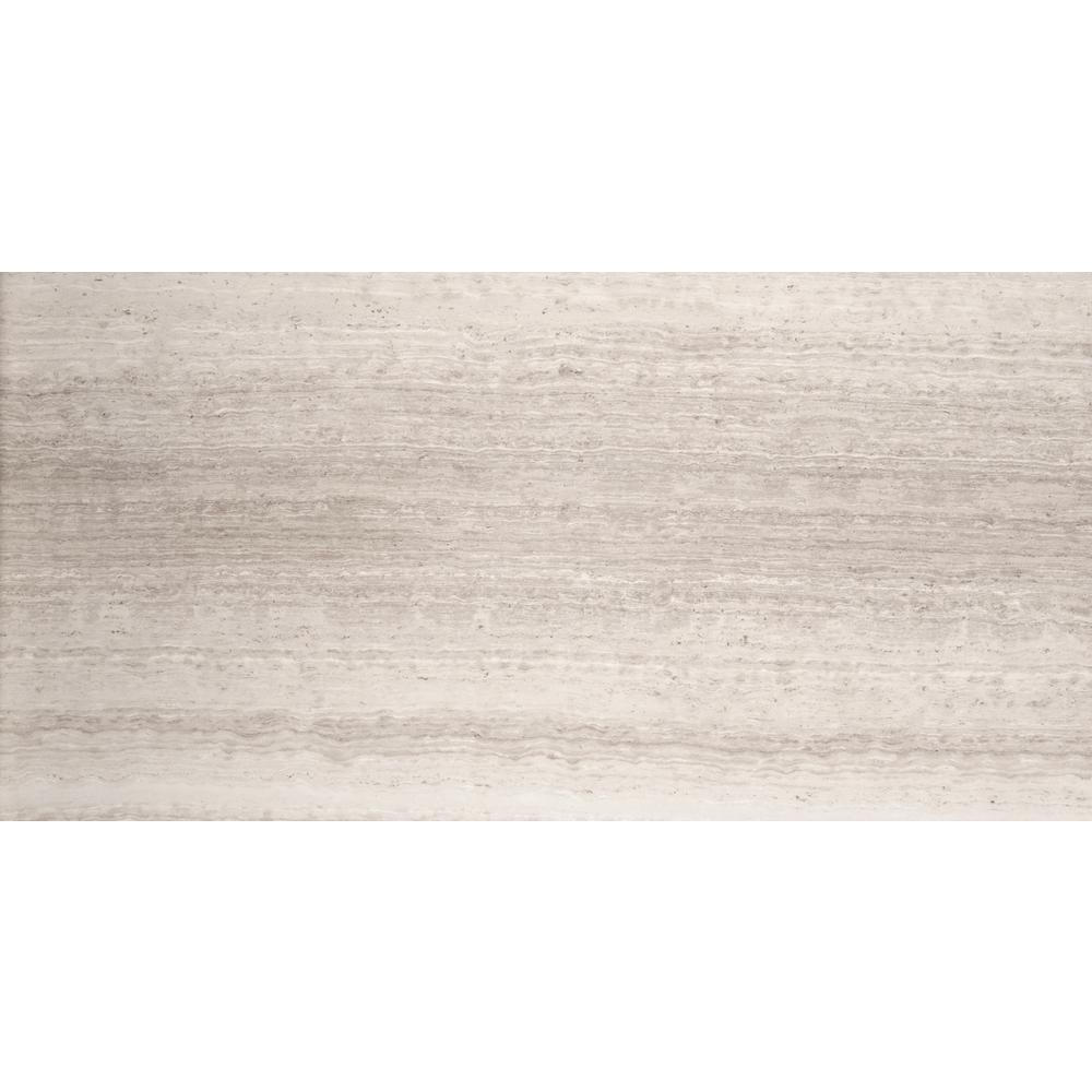 Marble Cream Honed 15.98 in. x 31.97 in. Limestone Floor and