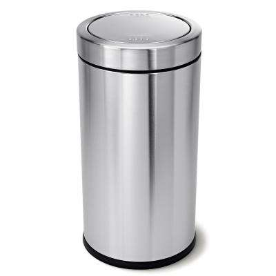 55-Liter Brushed Stainless Steel Swing Top Trash Can