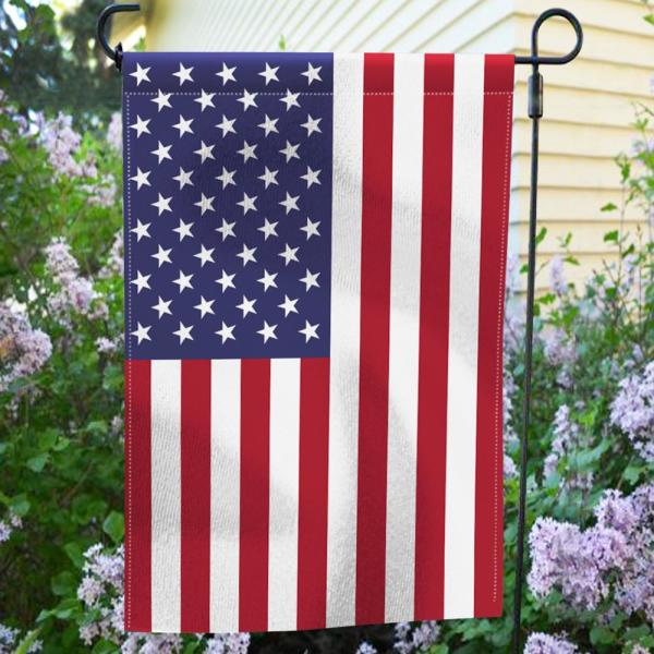 Anley 18 In X 12 5 In Double Sided Premium Usa United States Decorative Garden Flags Weather Resistant Double Stitched A Flag Garden Us The Home Depot