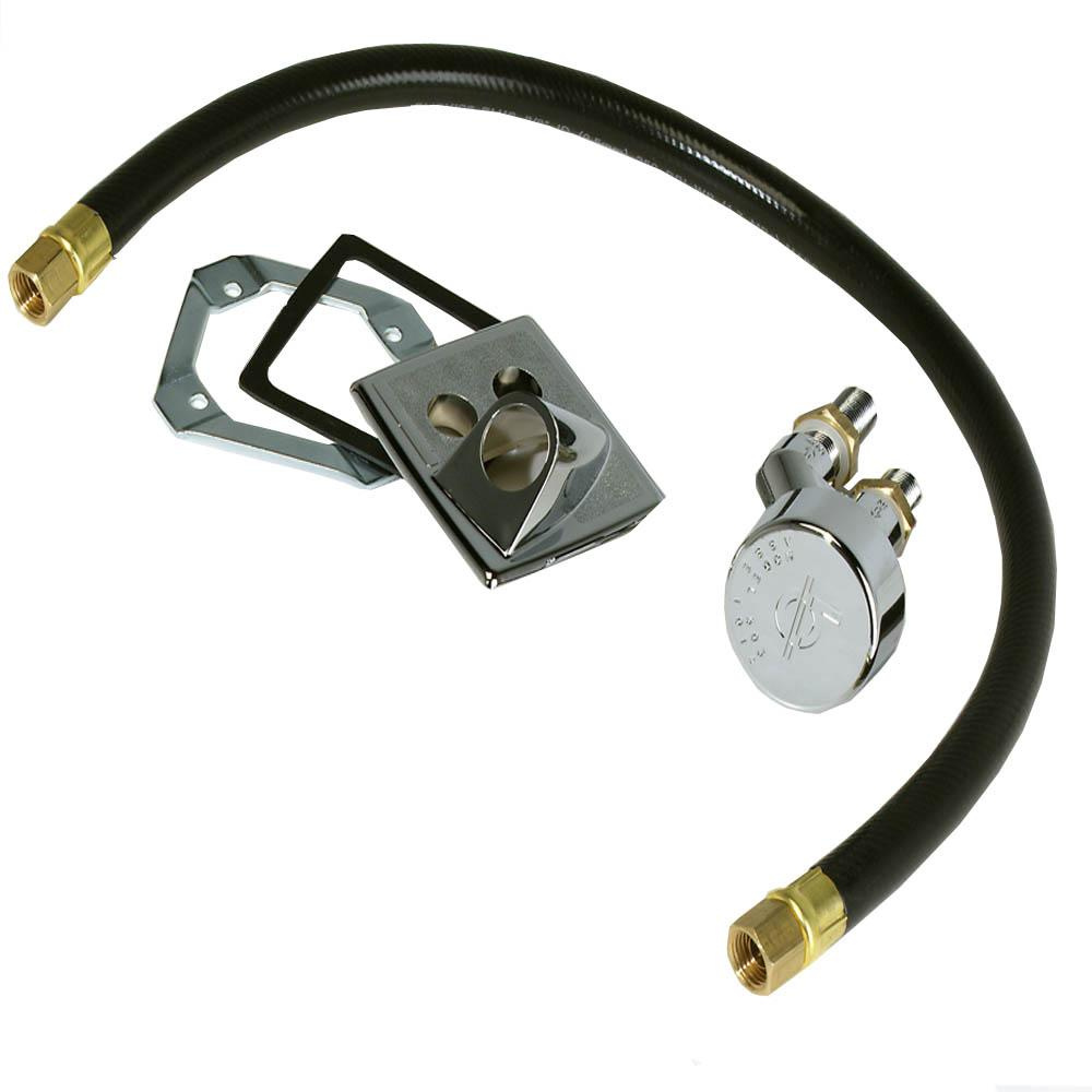 Vacuum Breaker For Shampoo Sink With Receiver Plate And Hose