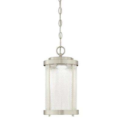 Skyview Brushed Nickel Integrated LED Outdoor Hanging Pendant