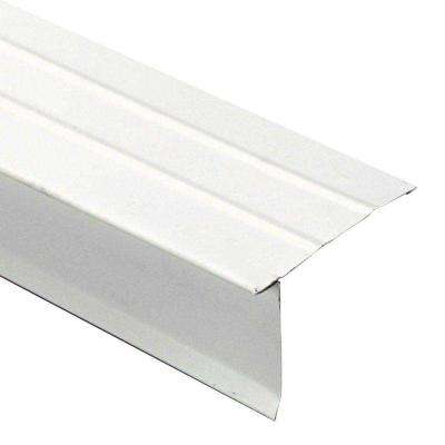 3 in. x 2 in. x 10 ft. Galvanized Steel Eave Drip Flashing in Polar White
