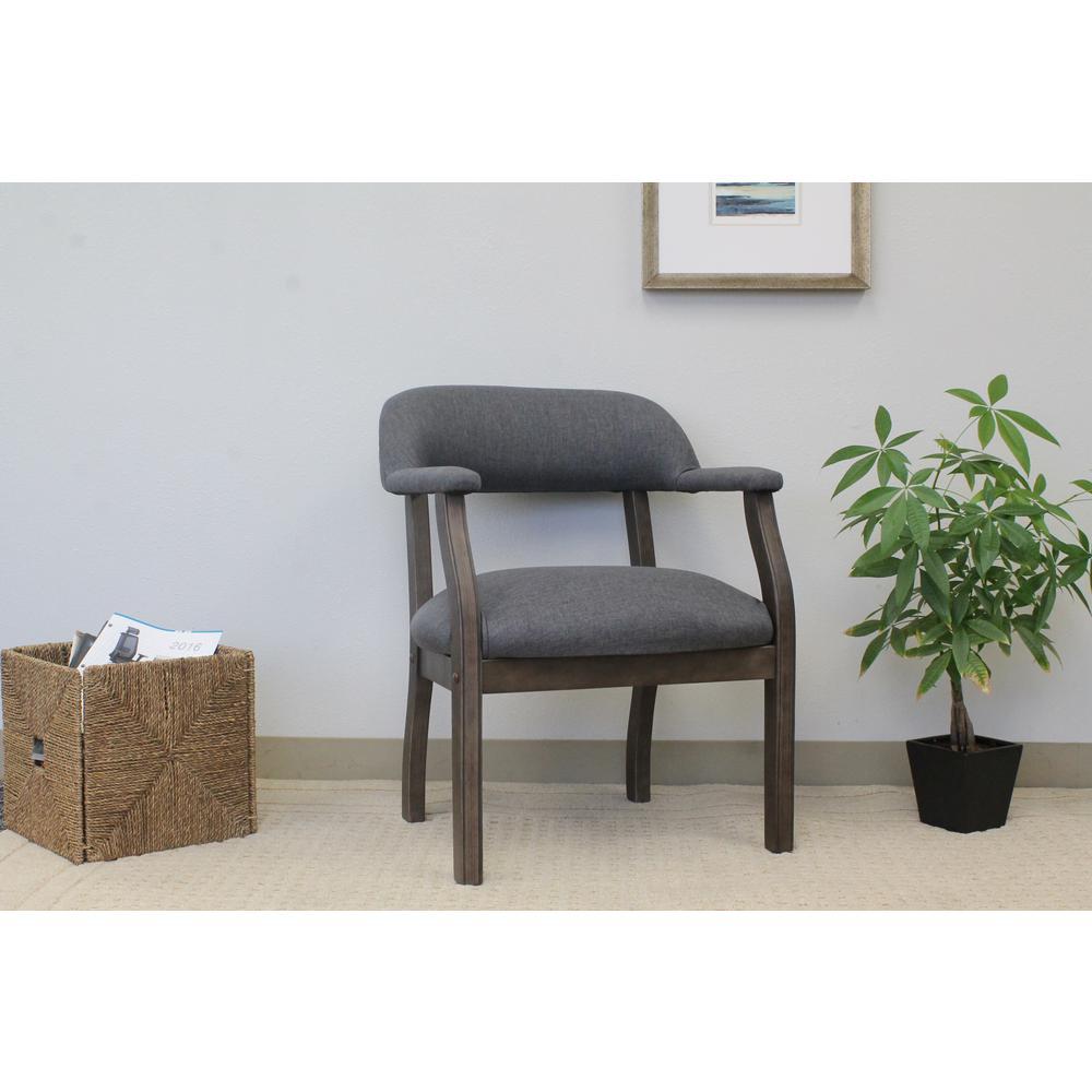 Gray Modern Captain's Chair