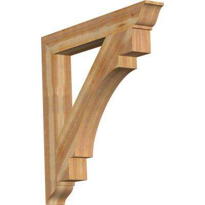 6 in. x 48 in. x 48 in. Western Red Cedar Merced Traditional Rough Sawn Bracket