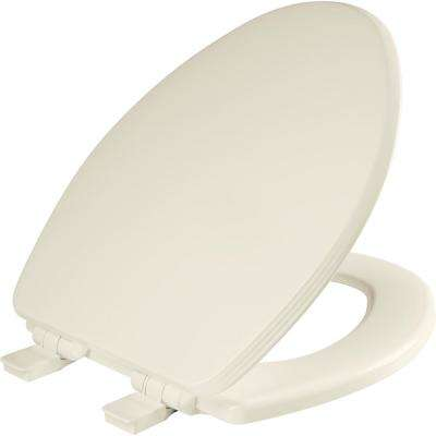 Ashland Elongated Closed Front Toilet Seat in Biscuit/Linen