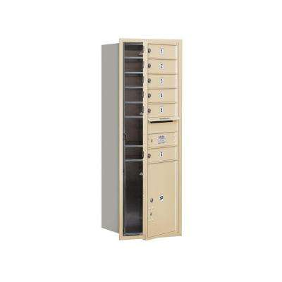 3700 Series 48 in. 13 Door High Unit Sandstone Private Front Loading 4C Horizontal Mailbox with 6 MB1 Doors/1 PL5