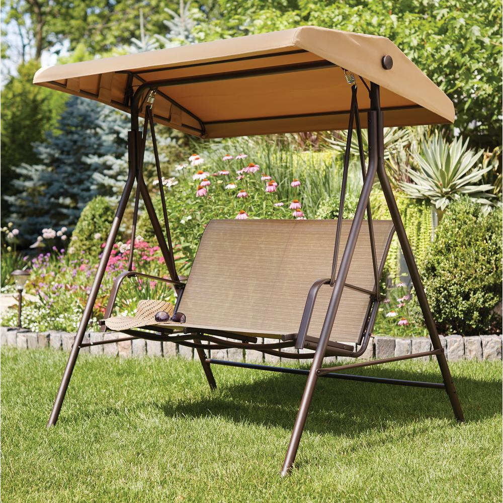 Mix and Match 2-Person Sling Outdoor Swing & Patio Swings - Patio Chairs - The Home Depot