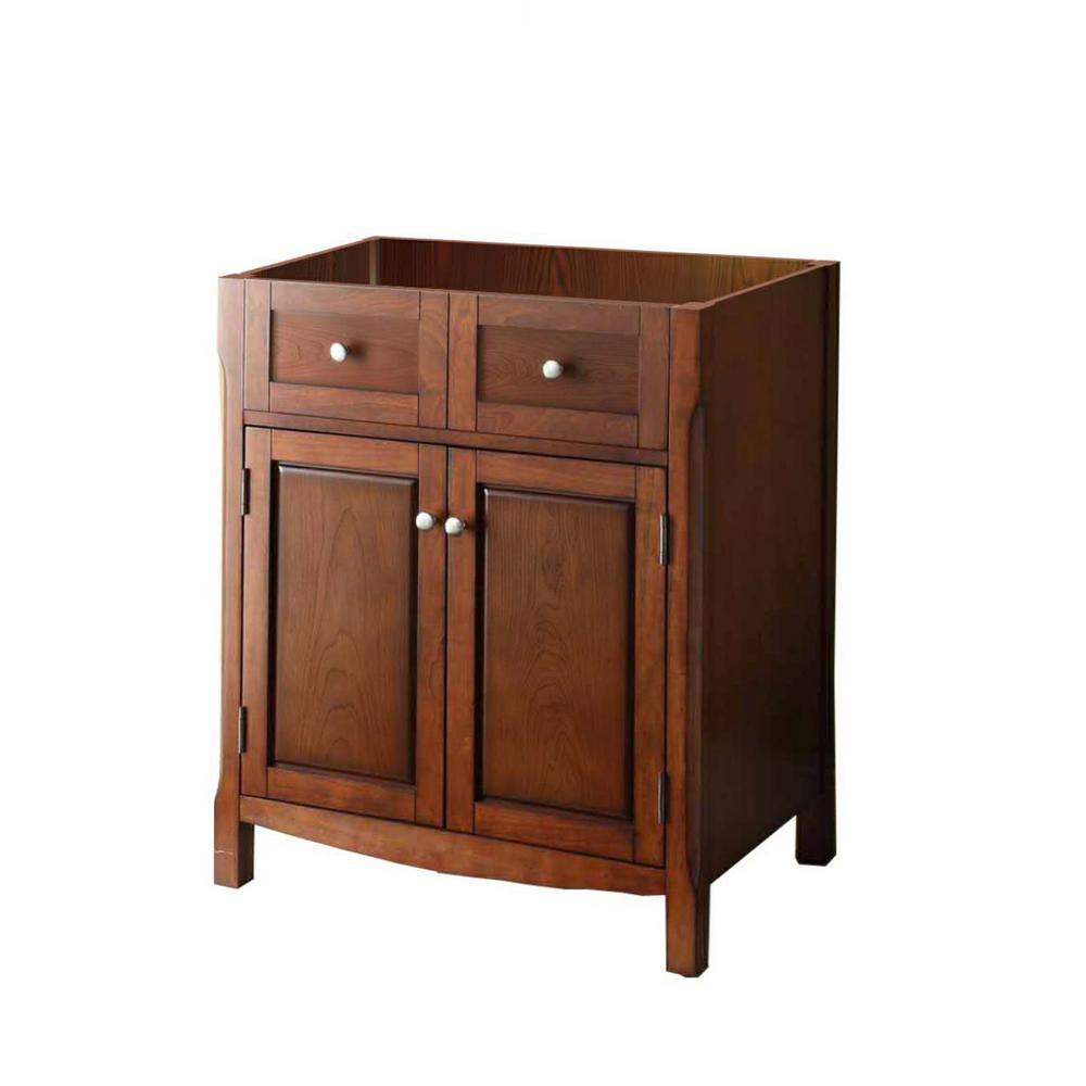 30 in. W x 34-1/4 in. H x 21 in. D Vanity Cabinet Only in Dark Cherry