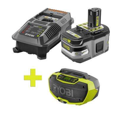 18-Volt ONE+ Lithium-Ion LITHIUM+ HP 6.0 Ah Starter Kit w/ Bonus ONE+ Hybrid Stereo with Bluetooth Wireless Technology