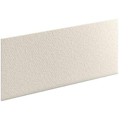 Choreograph 0.3125 in. x 60 in. x 28 in. 1-Piece Shower Wall Panel in Biscuit with Hex Texture