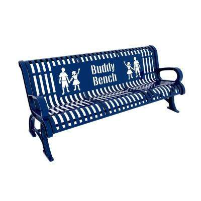 6 ft. Blue Premium Buddy Bench