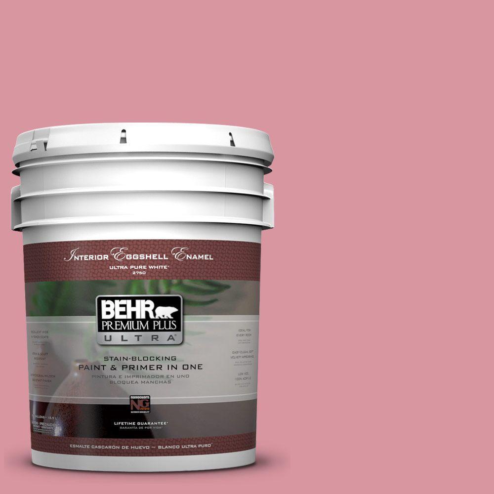 BEHR Premium Plus Ultra 5-gal. #M150-4 Glow Pink Eggshell Enamel Interior Paint