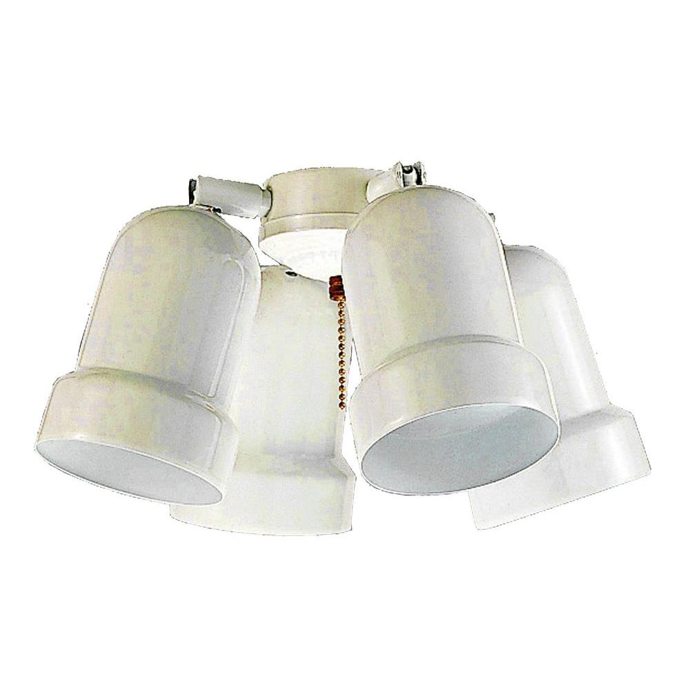 Royal Pacific 4-Light Fan Light Kit White Finish-DISCONTINUED