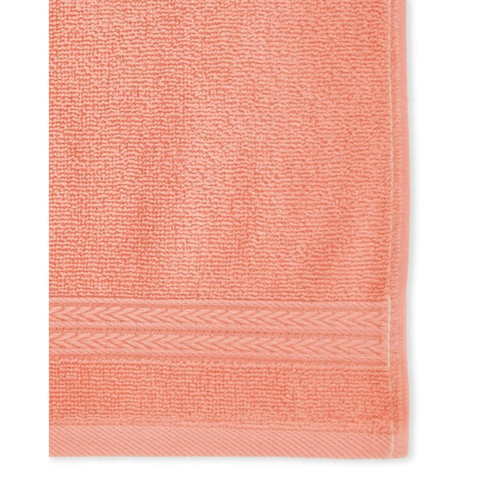 Summit 6-Piece 100% Cotton Bath Towel Set in Coral