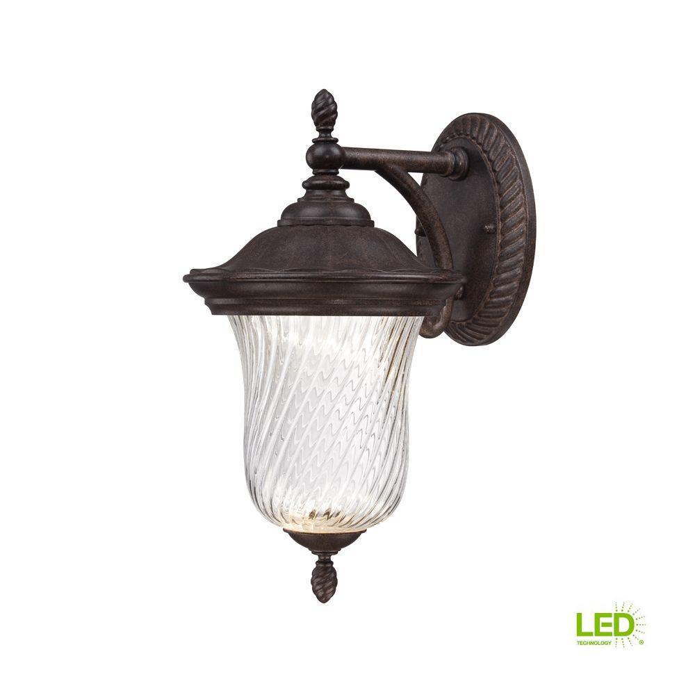 Wellington Mystic Bronze Outdoor LED Wall Lantern