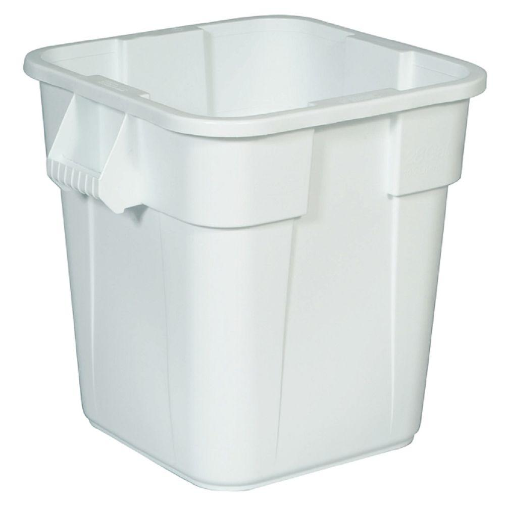 BRUTE 40 Gal. White Square Trash Can