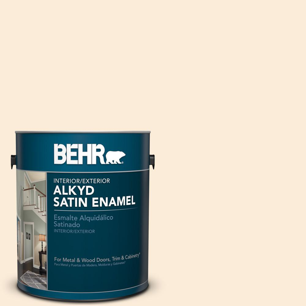 1 gal. #OR-W1 White Blush Satin Enamel Alkyd Interior/Exterior Paint