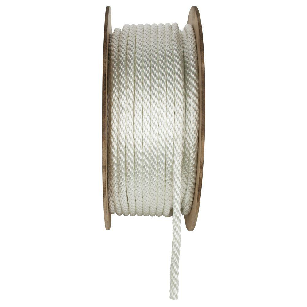 Everbilt 3/8 in  x 400 ft  Nylon Solid Braid Rope, White