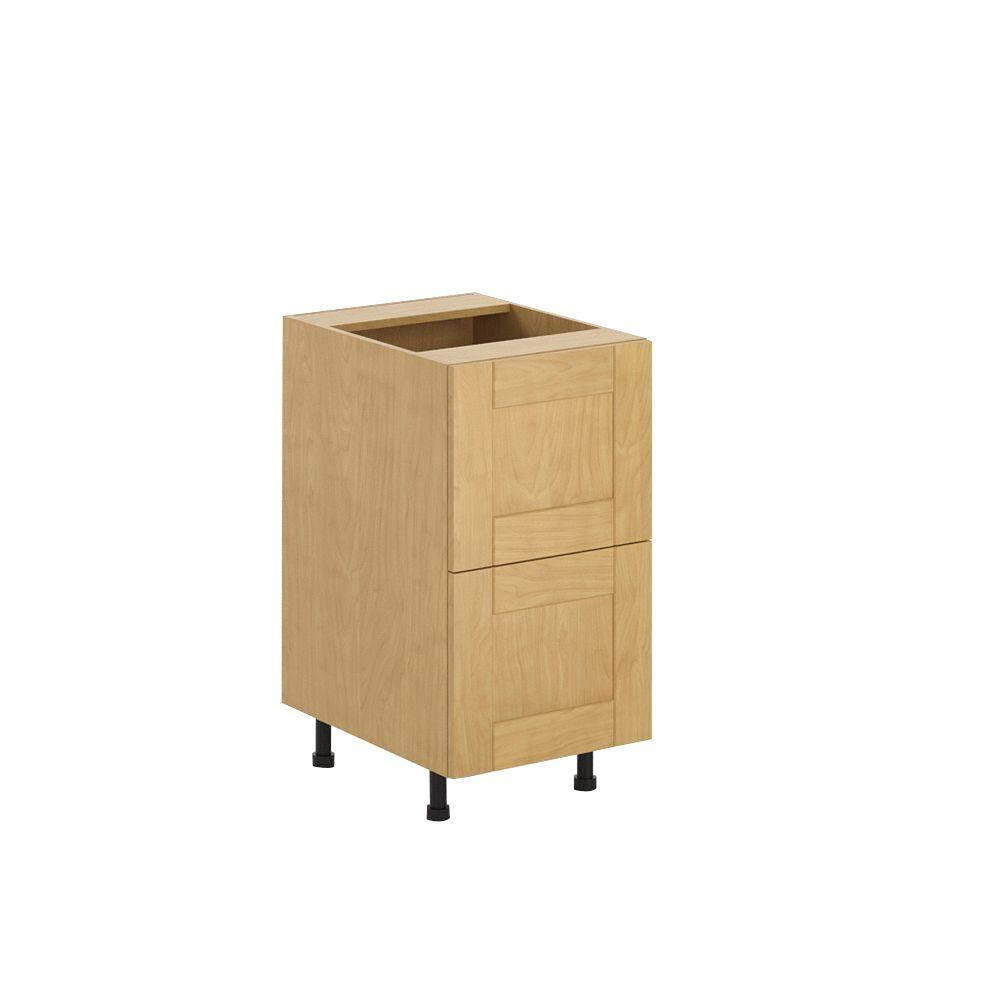 Ready to Assemble 18x34.5x24.5 in. Milano 2-Deep Drawer Base Cabinet in
