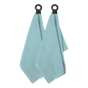 Hook and Hang Dew Woven Cotton Kitchen Towel (Set of 2)