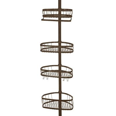 York 5 to 9 ft. Tension Pole Shower Caddy in Bronze