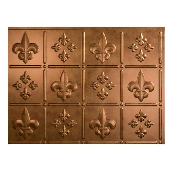 Fasade Fleur de Lis 18 in. x 24 in. Antique Bronze