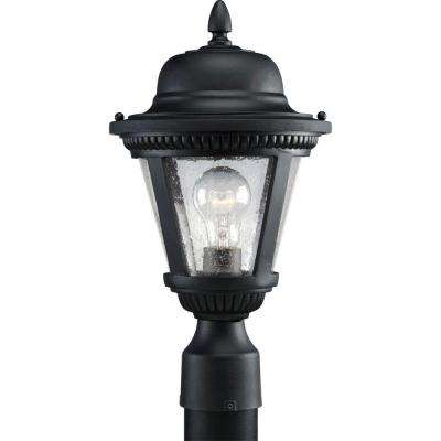 Westport Collection Outdoor Textured Black Post Lantern