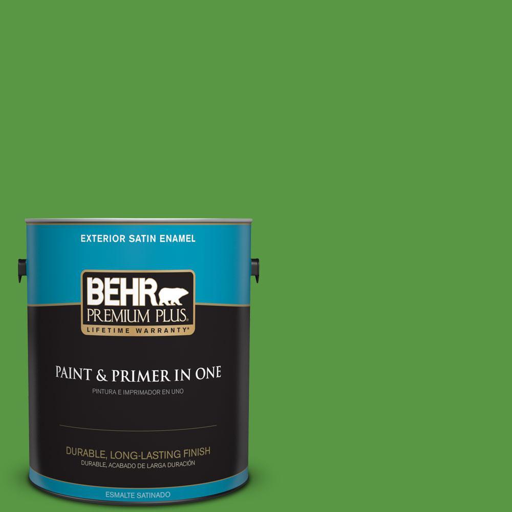 BEHR Premium Plus 1-gal. #430B-7 Cress Green Satin Enamel Exterior Paint