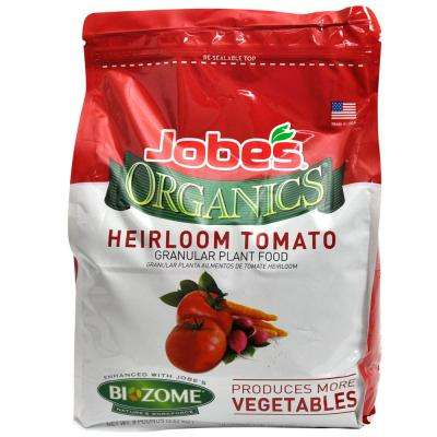 8 lb. Organic Heirloom Tomato and Vegetable Plant Food with Biozome, OMRI Listed