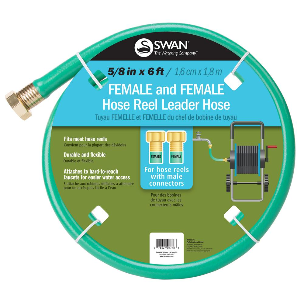 Swan 5/8 in. Dia x 6 ft. Leader Hose with Female Coupling