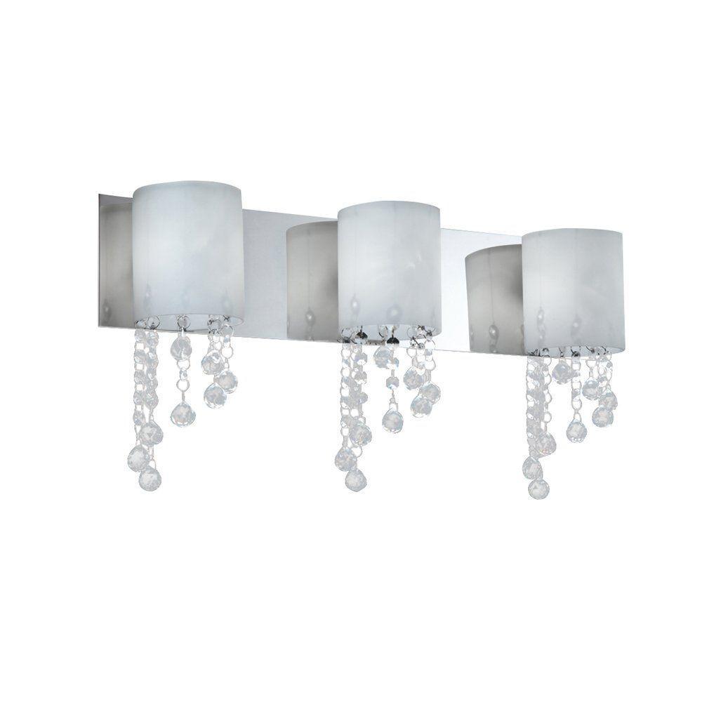 Filament Design Lawrence 3-Light Chrome Halogen Bath Vanity Light