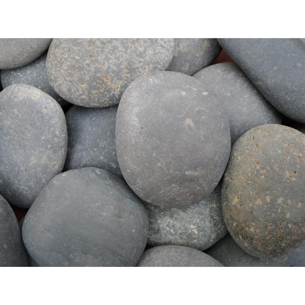 0.90 cu. ft., 75 lb., 2 in. to 3 in. Black Mexican Beach Pebble (40-Bag Contractor Pallet)