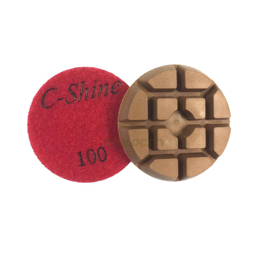 3 In 100 Grit Concrete Diamond Floor Polishing Pads Discs