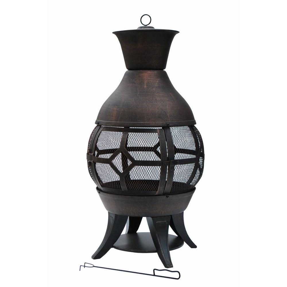 Hampton Bay Lokia 20 in. Cast Iron Chimenea