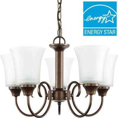 Holman 5-Light Bell Metal Bronze Chandelier