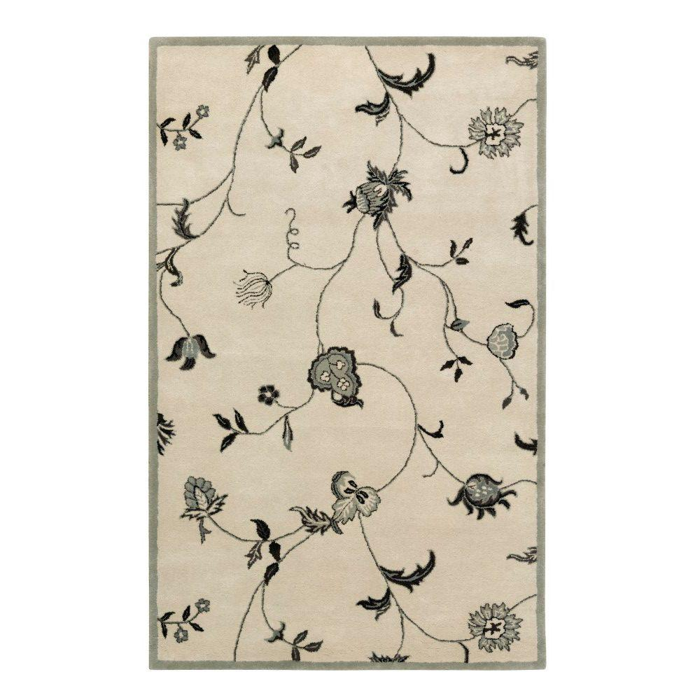 Home Decorators Collection Lenore Antique White 2 ft. x 3 ft. Area Rug
