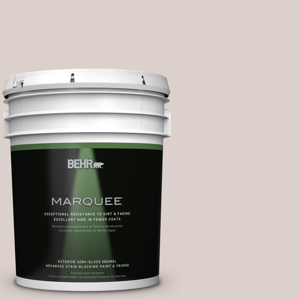 5-gal. #N130-1 Pearls and Lace Semi-Gloss Enamel Exterior Paint