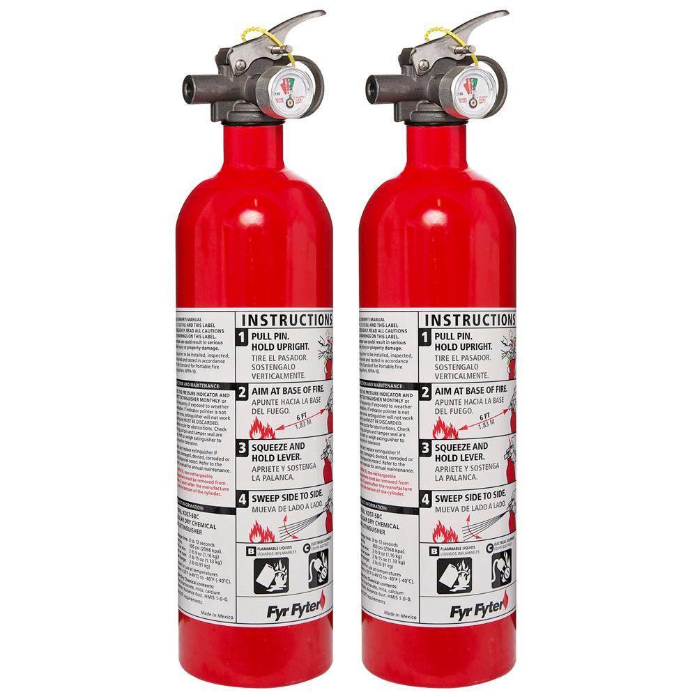 Kidde 5-B: C Rated Disposable Fire Extinguisher (2-Pack)