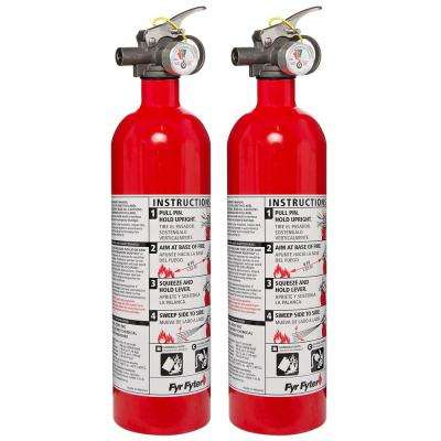 5-B: C Rated Disposable Fire Extinguisher (2-Pack)