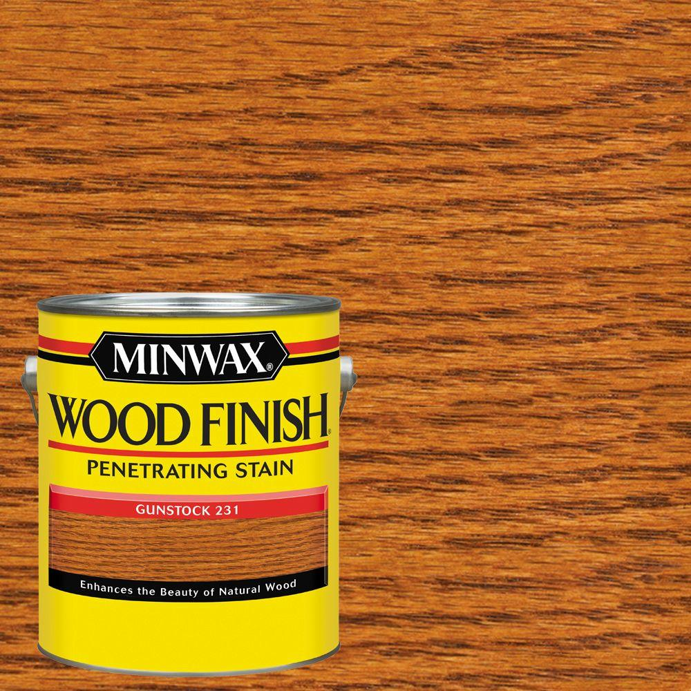 Minwax 1 Gal Wood Finish Gunstock Oil Based Interior Stain 71045 The Home Depot