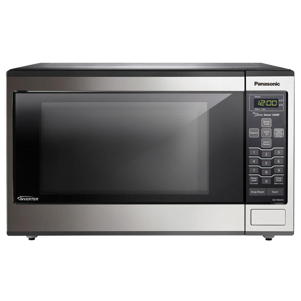 Panasonic 1.2 cu. ft. 1200-Watt Countertop/Built-In Microwave in Stainless Steel with Inverter Technology and Sensor Cooking
