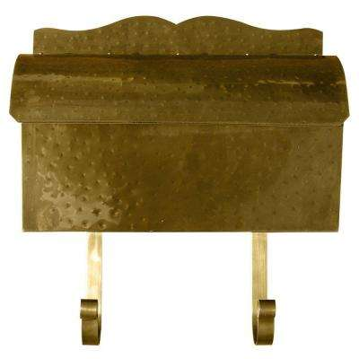 Antique Brass Wall Mount Non-Locking Mailbox